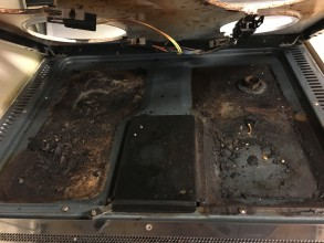 Before Cleaning Oven Below / Inside Stove top