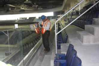 Pegula Center, Cleaning Railings