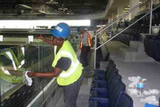 Pegula Center, Cleaning Seating Area